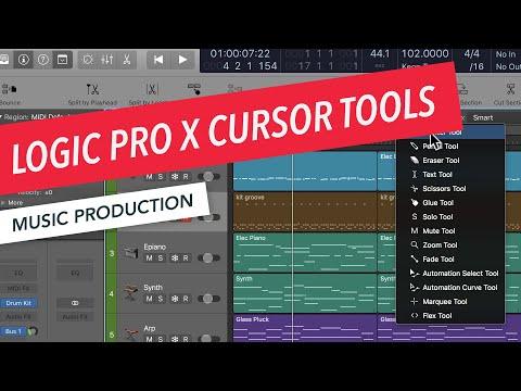 Logic Pro X Cursor Tools: Pointer, Pencil, Eraser, Scissors, Marquee | Music Production