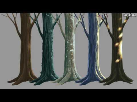 Photoshop Tree Trunk Bark Painting Youtube