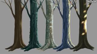 Photoshop - Tree trunk bark painting