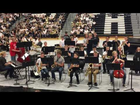 2017 West Ottawa Middle School Jazz Band - HS performance
