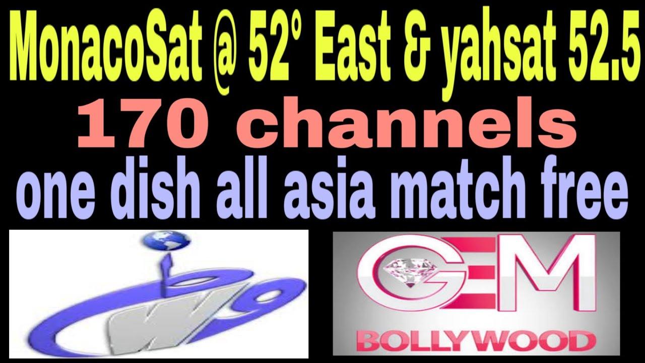 MonacoSat @ 52° East & yahsat 52 5