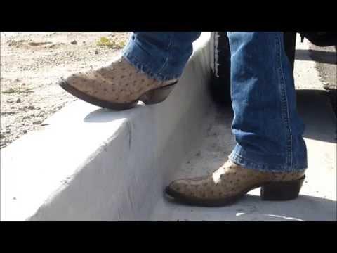 Cowboy Boots Full Quill Ostrich Vintage Botas Piel De Avestruz