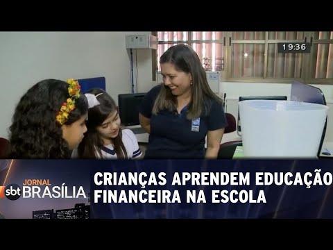 Crianças aprendem sobre educação financeira na escola | Jornal SBT Brasília 21/05/2018