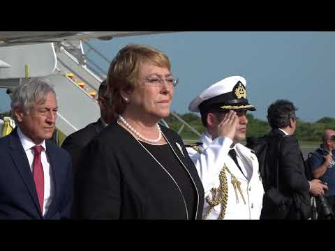 The Arrival of HE Ms. Michelle Bachelet, President of Chile