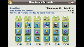 NEXT CLAN GAMES TIERS AND AWARDS LEAKS AND LEAK OF NEW TROOP ALSO | CLASH OF CLANS