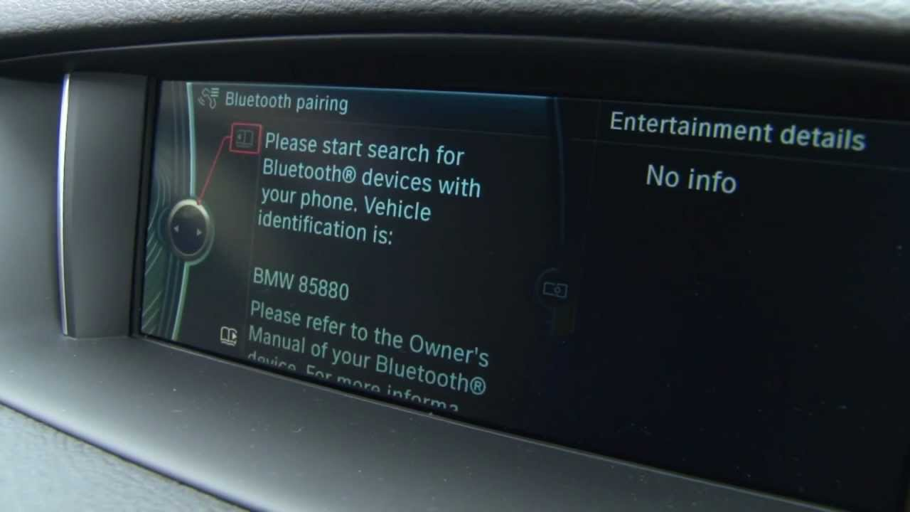 bluetooth pairing with the bmw x1 youtube rh youtube com Vi Manual PDF Vi Visual-Manual
