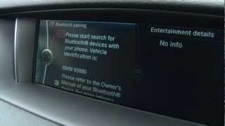 Bluetooth pairing with the BMW X1