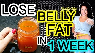 How to Lose Belly Fat in 1 Week | Flat Belly Drink | 100% Effective Belly Fat Loss Drink