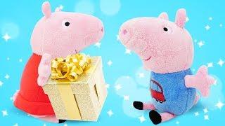 Фото Свинка Пеппа. Мультики для детей как Пеппа спрятала подарок от Джорджа. Зачем Пеппа