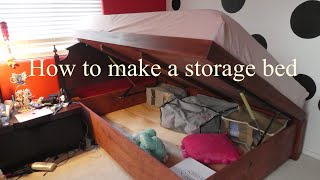 How to build a storage bed with a lid