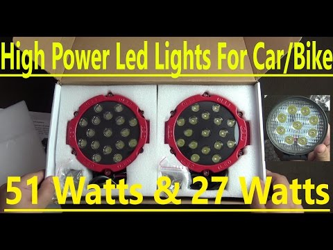 Led Lights For Car/Bike 51 & 27 Watts ( Nilight And KAWELL)