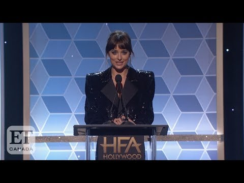 Dakota Johnson Honours Stepdad Antonio Banderas At Hollywood Film Awards