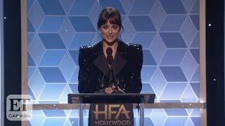 Dakota Johnson Honours Stepdad Antonio Banderas At Hollywood Film Awards