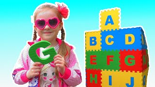 ABC Song | Lisa Pretend Play Learning Alphabet w/ Toys & Nursery Rhyme Songs