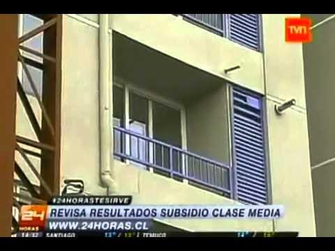 24hr TVN Dan a conocer los resultados del subsidio habitacional para la clase media. - YouTube