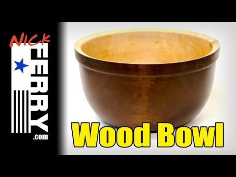 Ⓕ Firewood Log To Maple Wood Bowl (ep76)