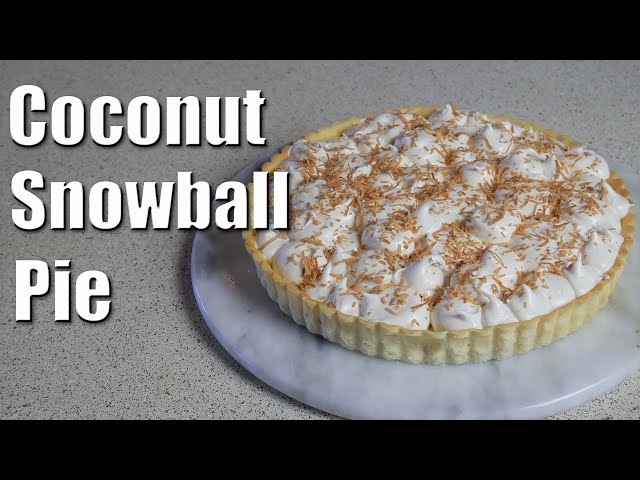Coconut Snowball Pie | Baking With ChefJohnReed | Christmas
