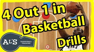 Basketball Drills For a 4 Out 1 in Motion Offense