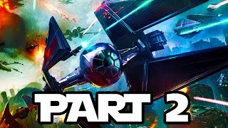 Star Wars Battlefront Gameplay Walkthrough Part 2 - SPACE COMBAT!! (1080p 60fps)