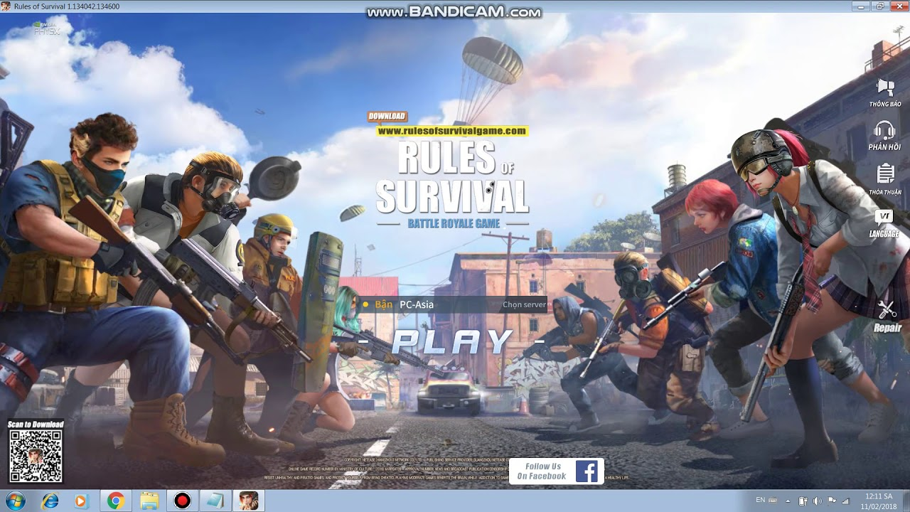 Hướng Dẫn Hack Rules of Survival PC ( WallHax VN)