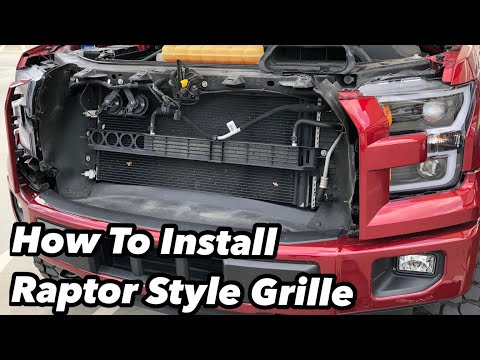 How to install Ford F150 2015-2017 Raptor Style Grille Upgrade. Fixed Anzo Switchback function