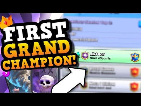 WORLD'S FIRST Grand Champ ft. his GRAVEYARD TORNADO DECK in Clash Royale