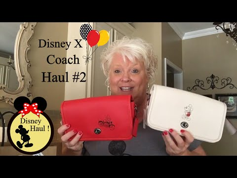 Disney X Coach Designer Haul #2 Unboxing ! Crossbody Wallet Coin Purse Backpack plus More!
