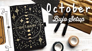 October 2020 Bullet Journal Setup / star constellations & moon phases