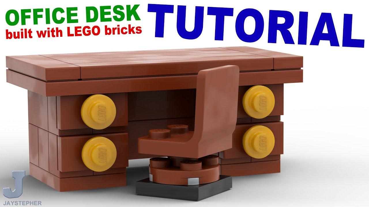 Tutorial   Lego Office Desk [CC]   YouTube