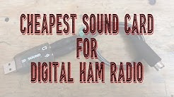Cheapest Sound card for digital ham radio
