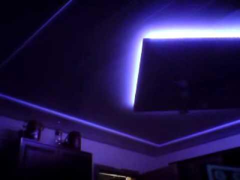 rgb led strip als indirekte beleuchtung youtube. Black Bedroom Furniture Sets. Home Design Ideas