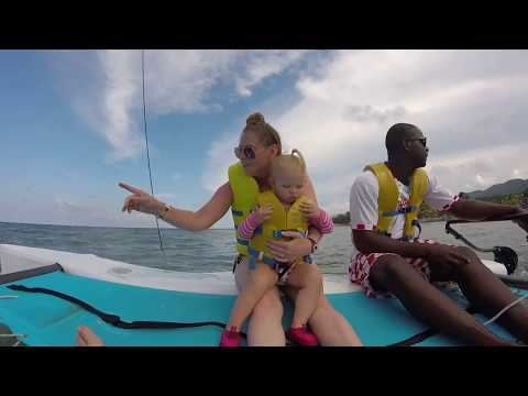 Catamaran ride at the Holiday Inn Sunspree Resort, Montego Bay, Jamaica 2017
