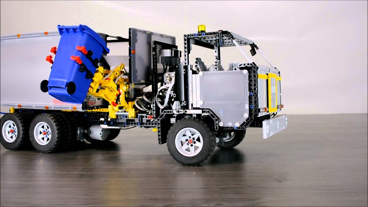 lego technic electric recycling truck youtube. Black Bedroom Furniture Sets. Home Design Ideas