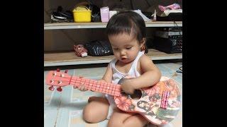 Bé 2t chơi guitar bài Cháu Lên Ba phong cách Rock cực đỉnh - Giáng Sol