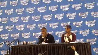 Lebron james and j r smith post game 1 press conference