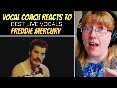 Vocal Coach Reacts To Freddie Mercury Best LIVE Vocals
