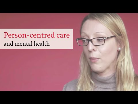 What does person-centred care mean for mental health services?