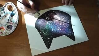 DIY: КАК НАРИСОВАТЬ КОСМОС АКРИЛОВЫМИ КРАСКАМИ (How to draw starry night sky)(, 2016-08-07T13:38:21.000Z)