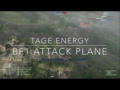Battlefield 1 Insanity | Attack Plane Montage: Tage Energy | 50+ Kills!