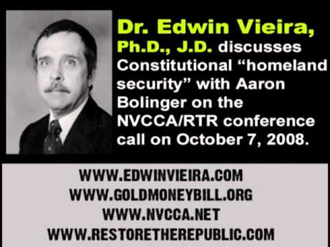 Dr. Edwin Vieira On Constitutional Homeland Security/Revitalizing State Militias (10-7-2008)
