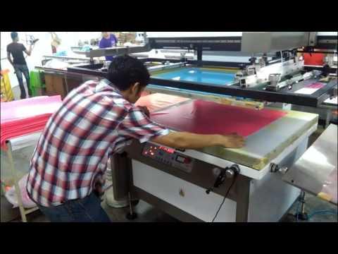 SFB 3/4 Rubber sheet screen printing line 四分之三线配IR烘箱