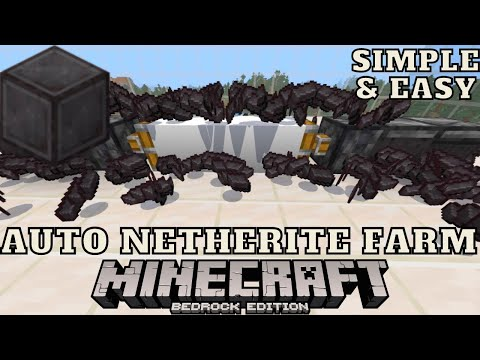 Working Netherite Farm For Minecraft Bedrock Edition 1.16.20 On Ps4, Xbox, MCPE, Windows 10, Switch!