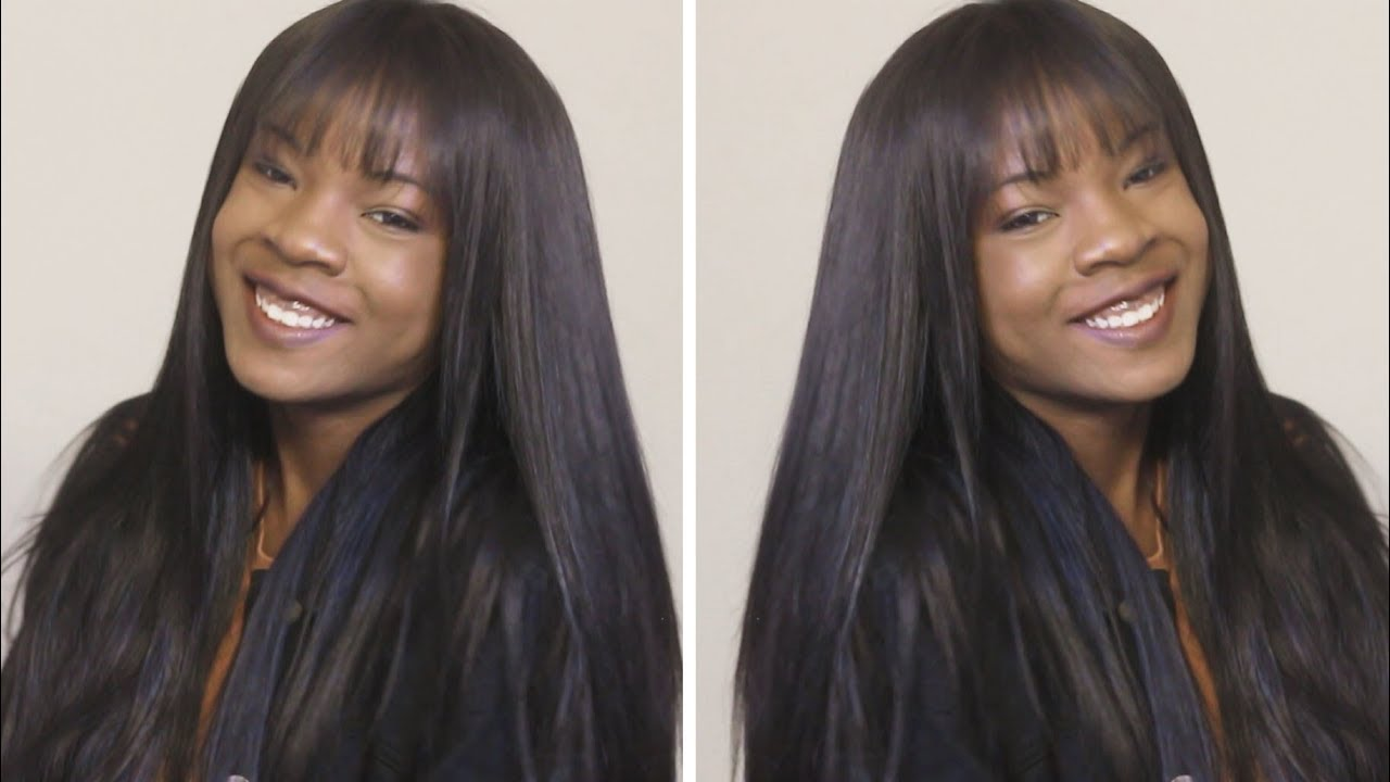 How To Do A Full Sew In With Bangs Beginner Friendly