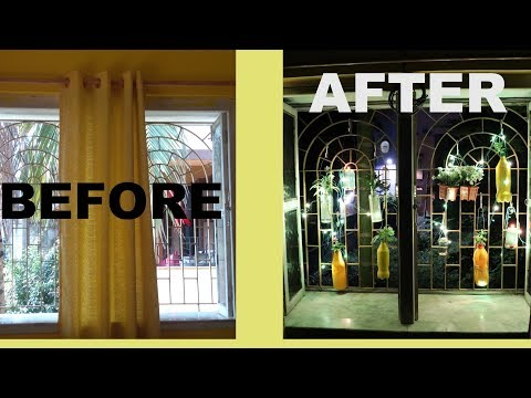 HOW TO DECORATE A WINDOW,IF YOU DONT HAVE A BALCONY|BEFORE AFTER