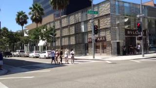 Another beautiful day in Rodeo Drive in Beverly Hills.