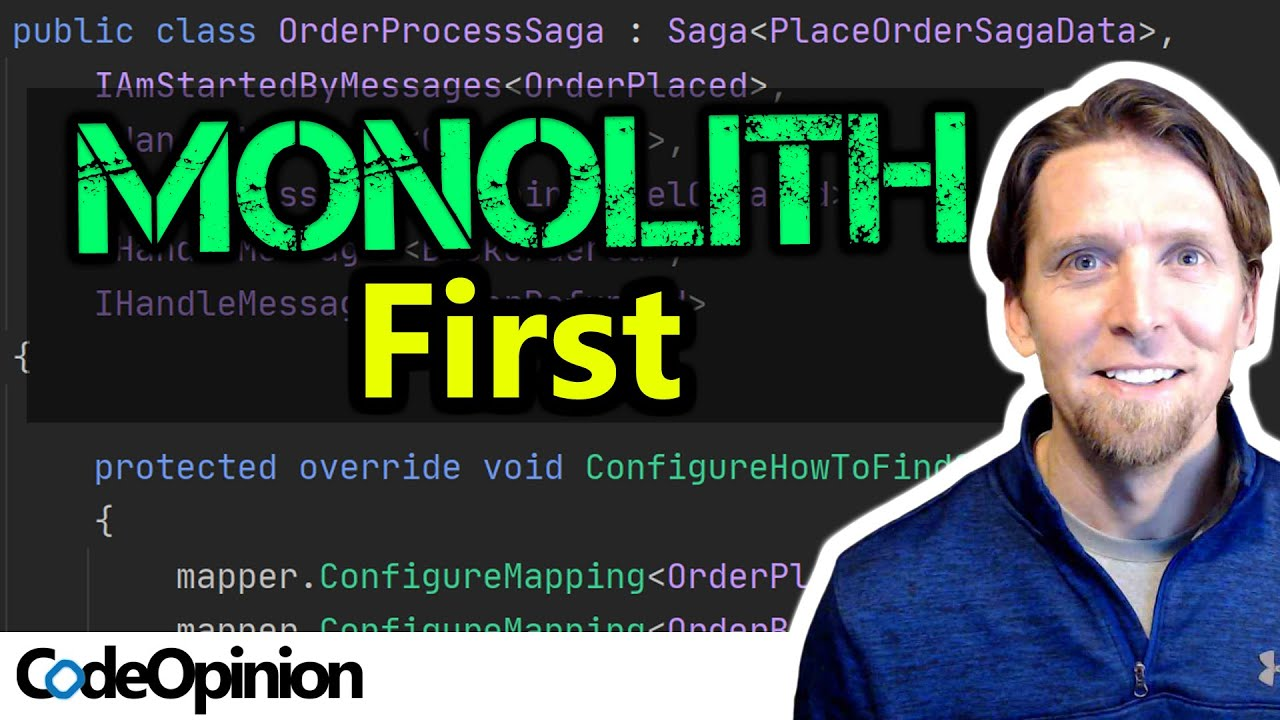 START with a Monolith, NOT Microservices