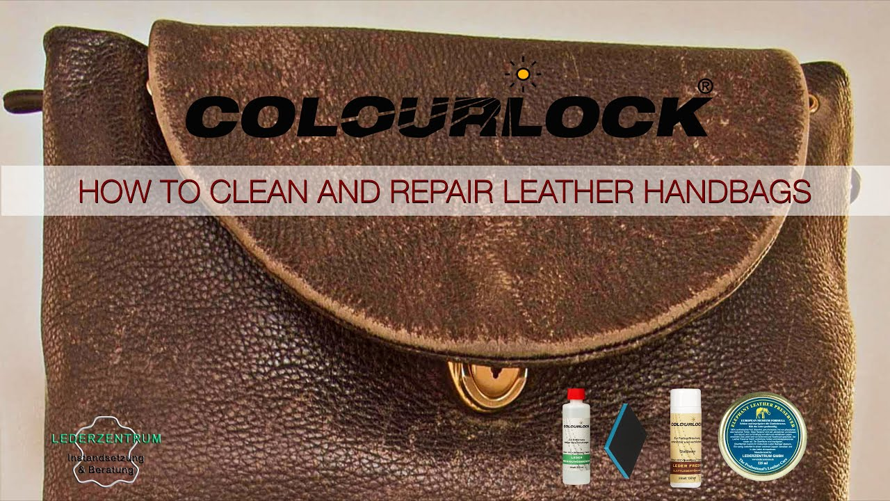 how to clean and repair leather handbags youtube. Black Bedroom Furniture Sets. Home Design Ideas