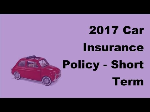 2017 Car Insurance Policy  | Short Term Comprehensive Car Insurance Coverage for Sedan Cars