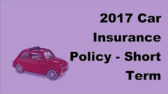 2017 Car Insurance Policy    Short Term Comprehensive Car Insurance Coverage for Sedan Cars