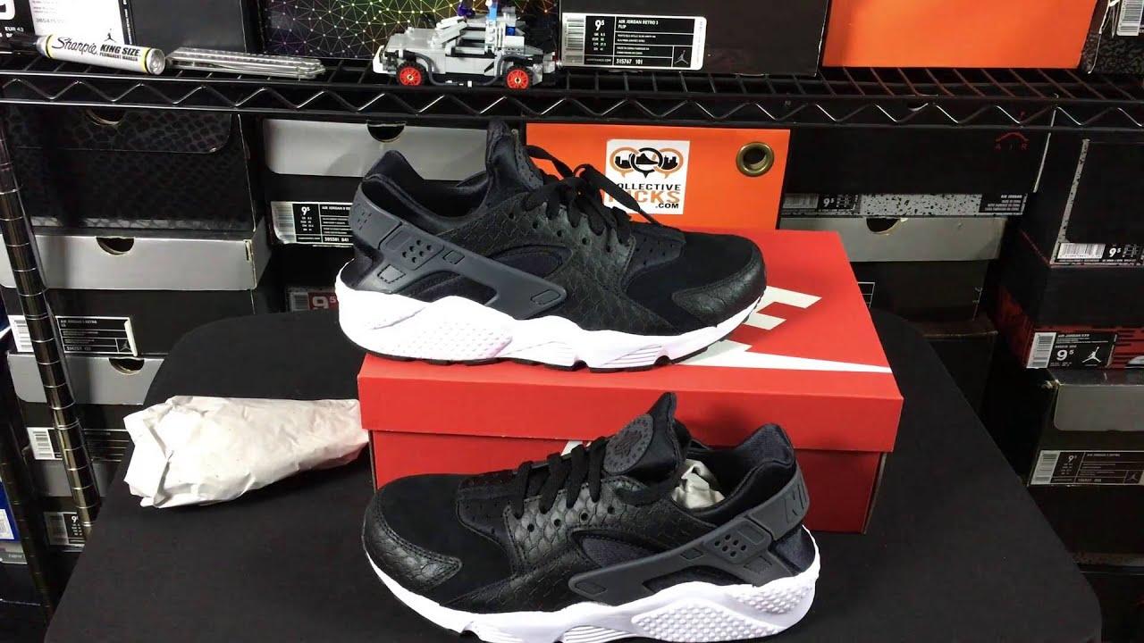 ac1c5887f3f205 Nike Huarache Run Python Print Premium Unboxing Review From  kicks usa